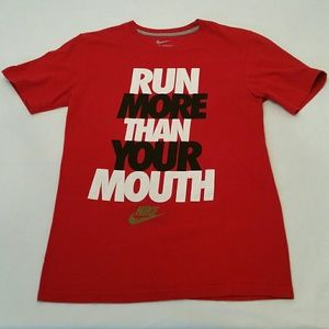 Run More Than Your Mouth Nike Tee - S
